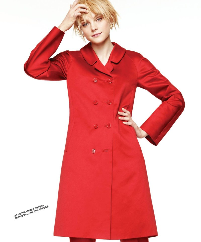 jessica stam singles korea3 Jessica Stam Shines in Singles Koreas March Issue