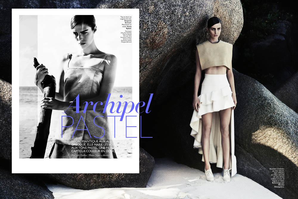 julia frauche hakl1 Julia Frauche is Jet Set Chic For Honor Akrawi In Grazia France