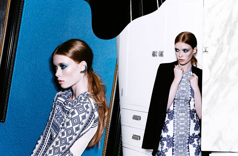 Julia Hafstrom Rocks Bold Prints for Nasty Gal's March Lookbook