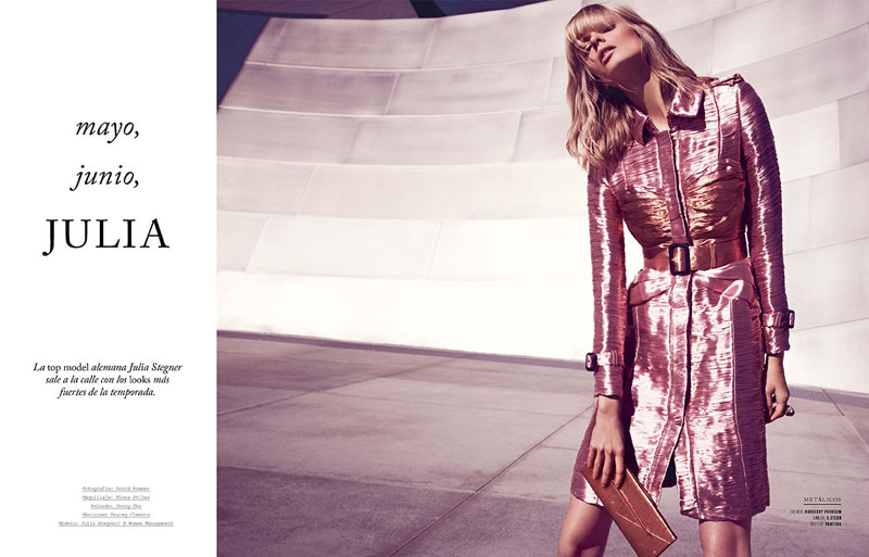 julia stegner mujer2 Julia Stegner Shines in El Libro Amarillo S/S 2013 by David Roemer
