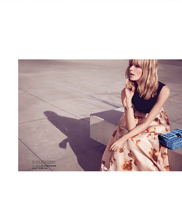 julia stegner mujer9 Julia Stegner Shines in El Libro Amarillo S/S 2013 by David Roemer