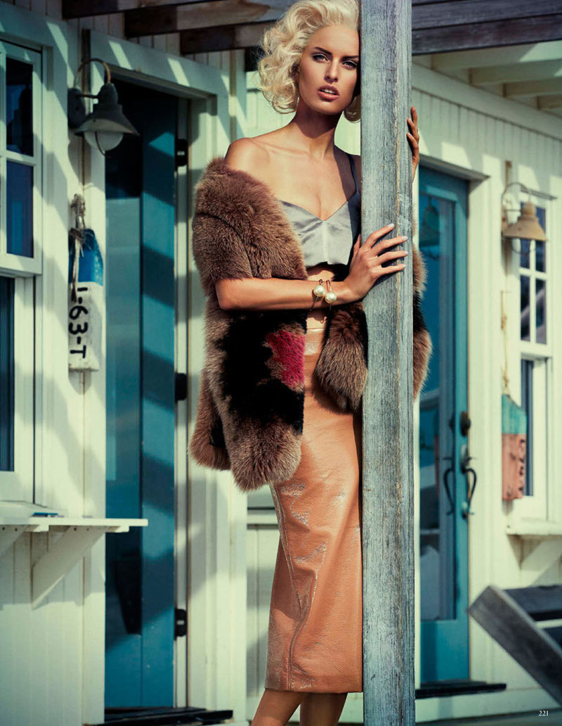 Karolina Kurkova is Retro Chic for Vogue Germany's April Issue by Giampaolo Sgura