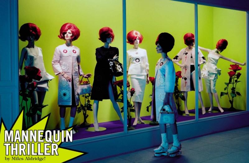 kinga rajzak miles aldridge1 Kinga Rajzak in Mannequin Thriller for Vogue Italia March 2013 by Miles Aldridge