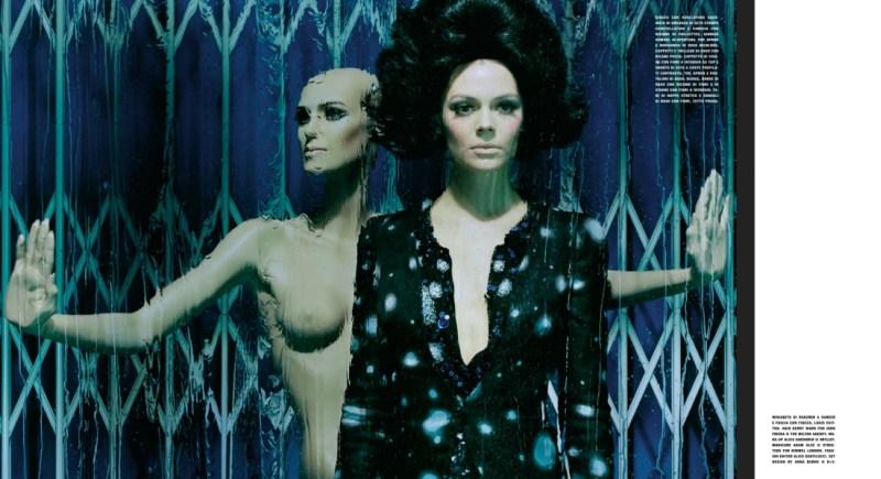 kinga rajzak miles aldridge2 Kinga Rajzak in Mannequin Thriller for Vogue Italia March 2013 by Miles Aldridge
