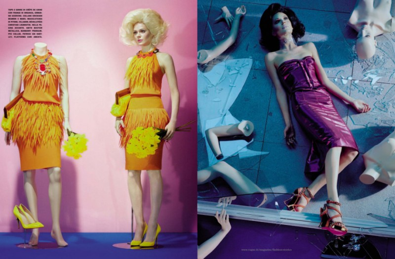 kinga rajzak miles aldridge3 Kinga Rajzak in Mannequin Thriller for Vogue Italia March 2013 by Miles Aldridge