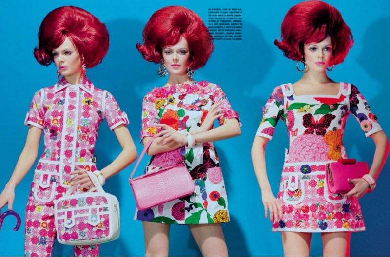 kinga rajzak miles aldridge5 Kinga Rajzak in Mannequin Thriller for Vogue Italia March 2013 by Miles Aldridge