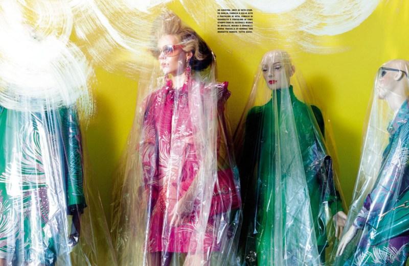 kinga rajzak miles aldridge6 Kinga Rajzak in Mannequin Thriller for Vogue Italia March 2013 by Miles Aldridge