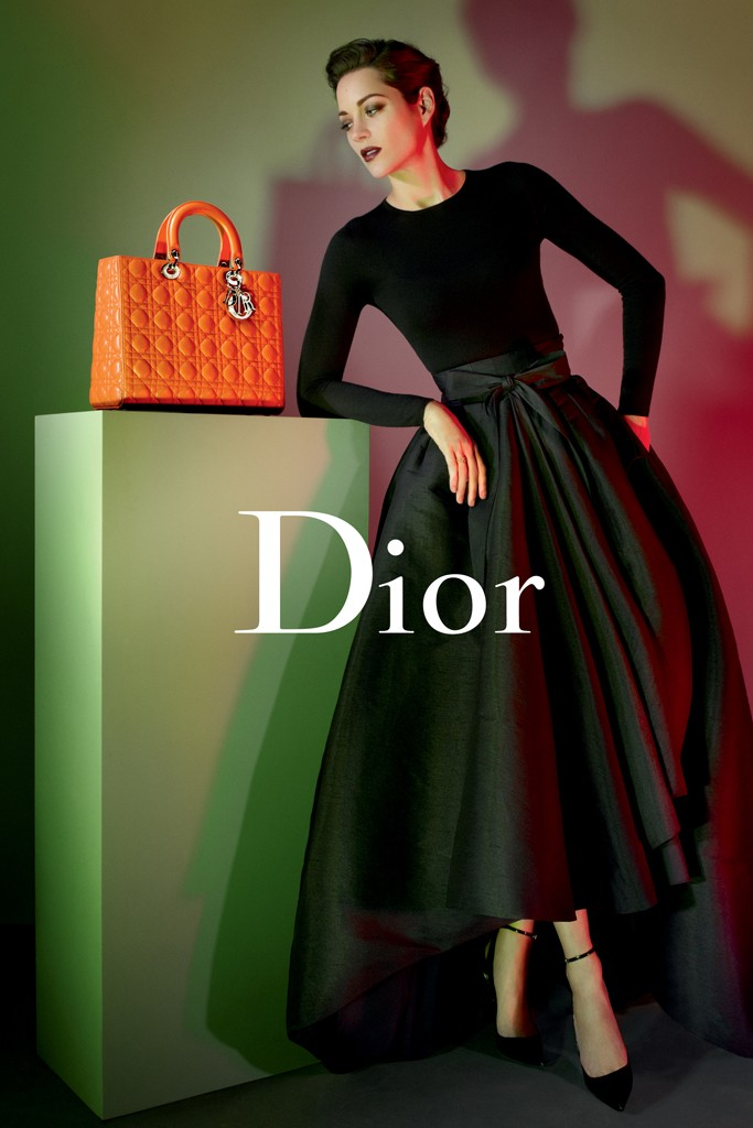 lady dior marion1 Marion Cotillard Gets Dark for Lady Dior Handbags 2013 Campaign by Jean Baptiste Mondino