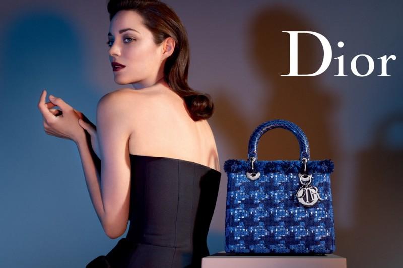 "Marion Cotillard Gets Dark for ""Lady Dior"" Handbags 2013 Campaign by Jean-Baptiste Mondino"