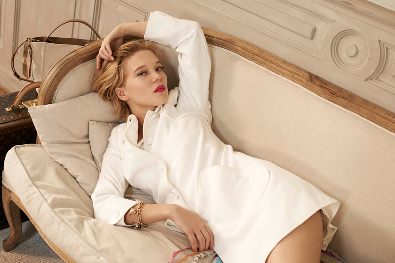 lea seydoux0 Léa Seydoux Unpacks for Elle Korea by Eric Guillemain