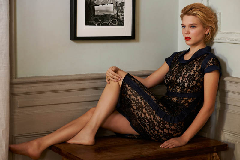 lea seydoux3 Léa Seydoux Unpacks for Elle Korea by Eric Guillemain