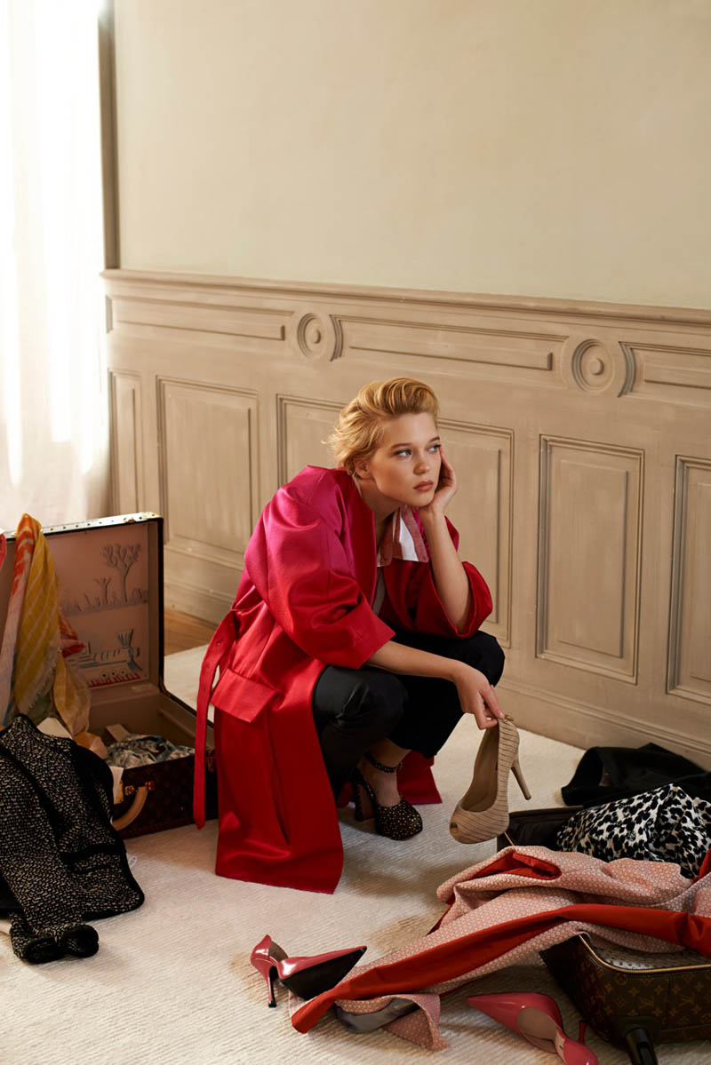 lea seydoux5 Léa Seydoux Unpacks for Elle Korea by Eric Guillemain