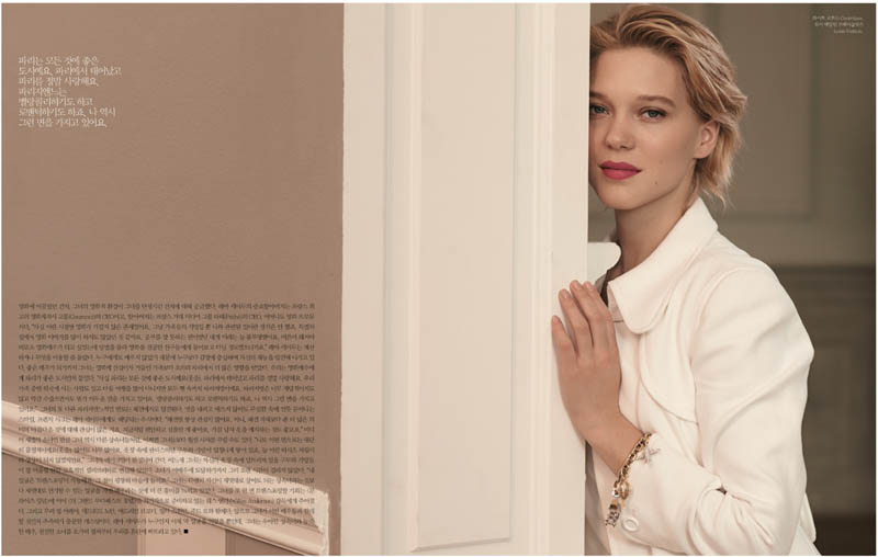 lea seydoux6 Léa Seydoux Unpacks for Elle Korea by Eric Guillemain