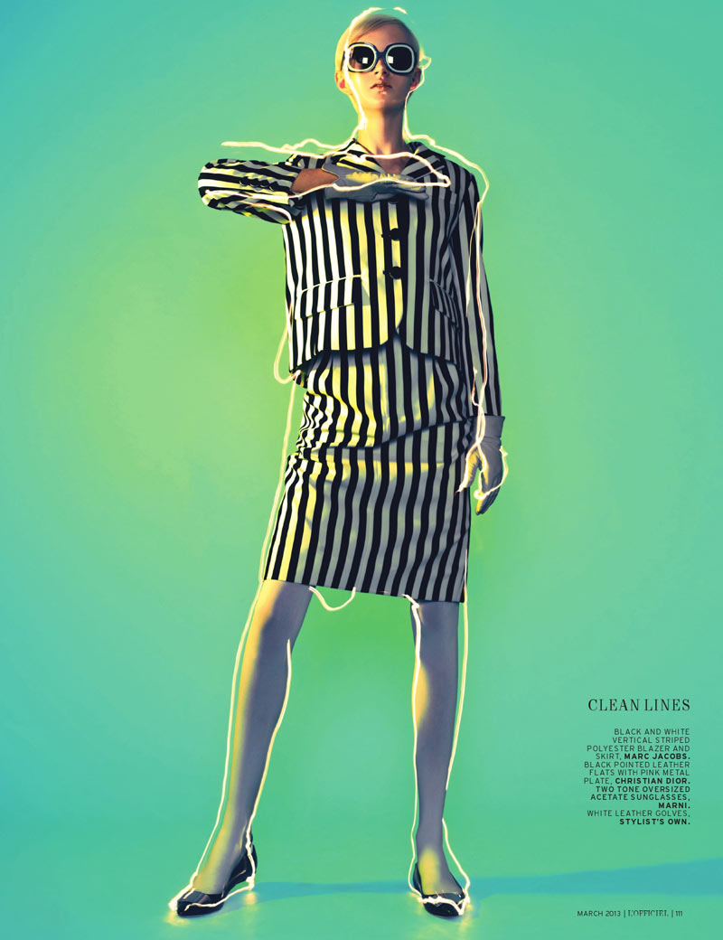 April Tiplady Sports Mod Shapes for L'Officiel Singapore's March Cover Shoot
