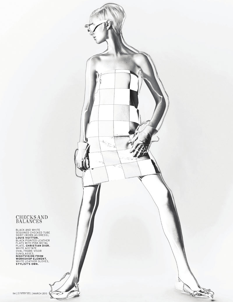 lofficiel singapore mod4 April Tiplady Sports Mod Shapes for LOfficiel Singapores March Cover Shoot