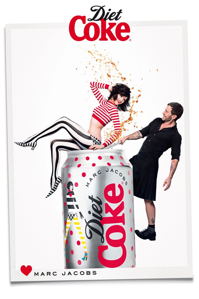 marc jacobs diet coke1 Marc Jacobs Joins Ginta Lapina for Diet Coke Campaign