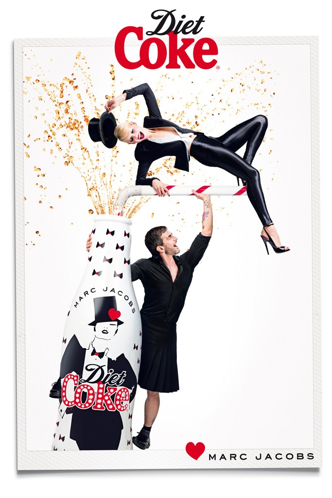 marc jacobs diet coke2 Marc Jacobs Joins Ginta Lapina for Diet Coke Campaign
