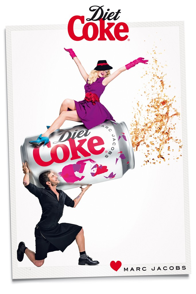 marc jacobs diet coke3 Marc Jacobs Joins Ginta Lapina for Diet Coke Campaign