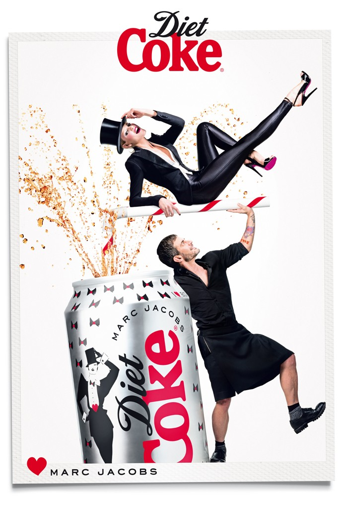 marc jacobs diet coke5 Marc Jacobs Joins Ginta Lapina for Diet Coke Campaign