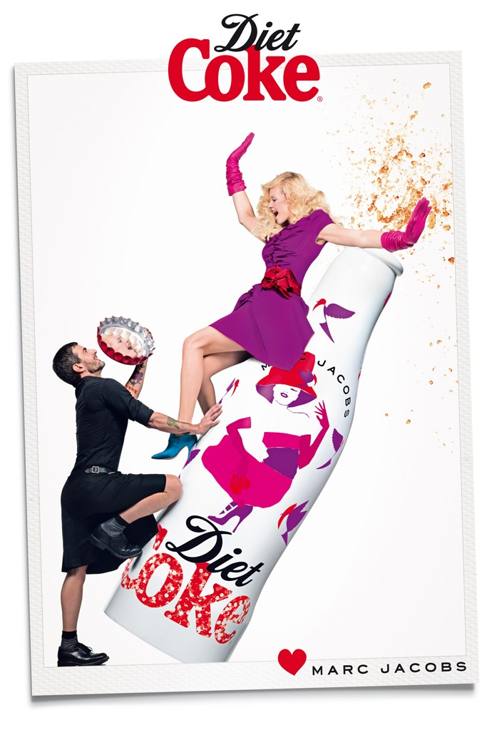 marc jacobs diet coke6 Marc Jacobs Joins Ginta Lapina for Diet Coke Campaign