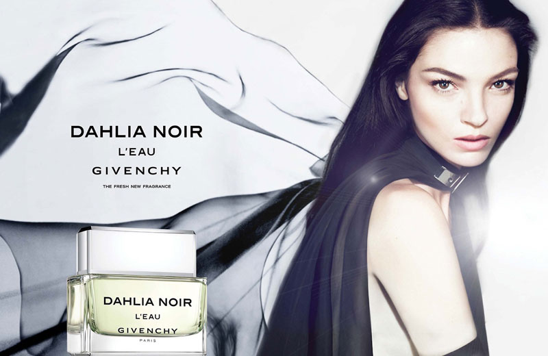 "Mariacarla Boscono Lightens Up for Givenchy's ""Dahlia Noir L'Eau"" Fragrance Campaign"