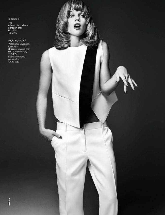 Masha Novoselova Poses for Naomi Yang in French Revue de Modes #22