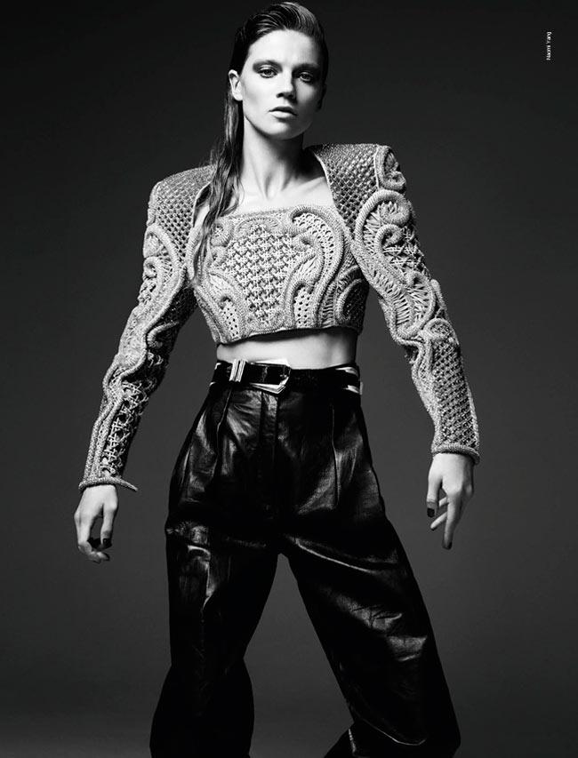 masha novoselova naomi yang6 Masha Novoselova Poses for Naomi Yang in French Revue de Modes #22