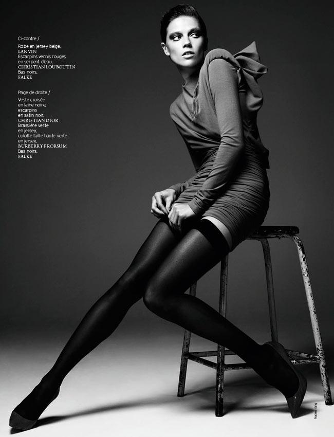 masha novoselova naomi yang9 Masha Novoselova Poses for Naomi Yang in French Revue de Modes #22