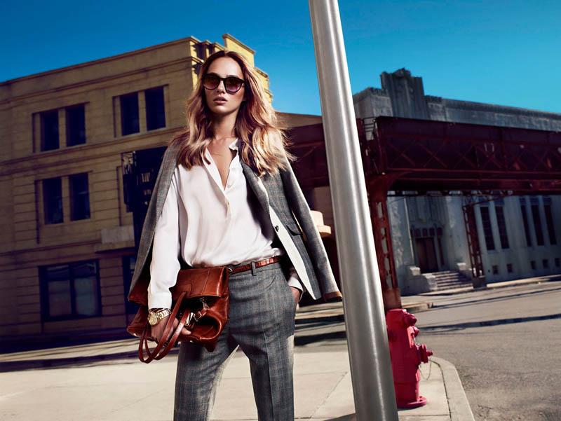 massimo dutti new york3 Karmen Pedaru Fronts Massimo Duttis NYC Campaign by Hunter & Gatti