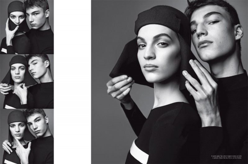 meisel mod shoot10 800x530 Vanessa Axente Poses for Steven Meisel in Vogue Italia March 2013
