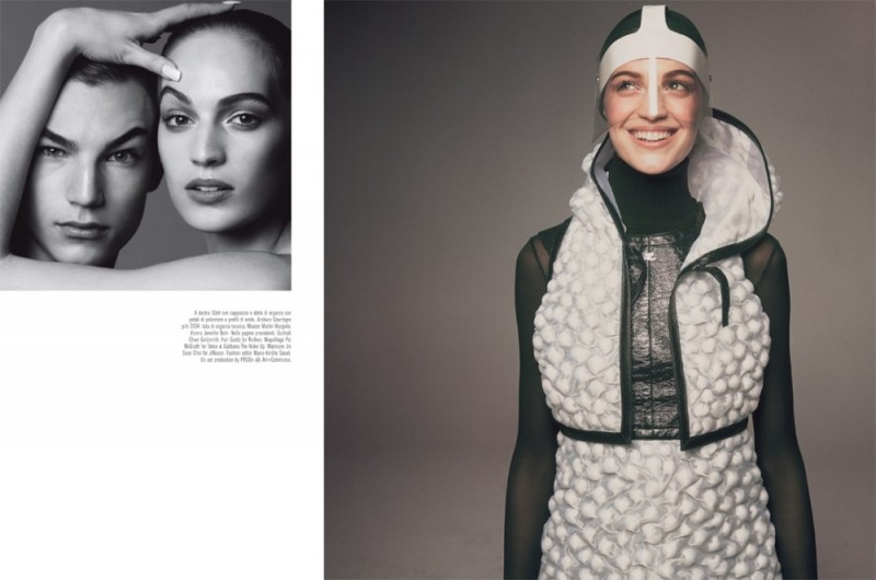 meisel mod shoot7 800x530 Vanessa Axente Poses for Steven Meisel in Vogue Italia March 2013