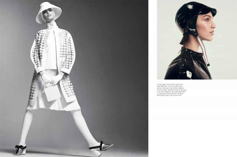 meisel mod shoot9 800x530 Vanessa Axente Poses for Steven Meisel in Vogue Italia March 2013