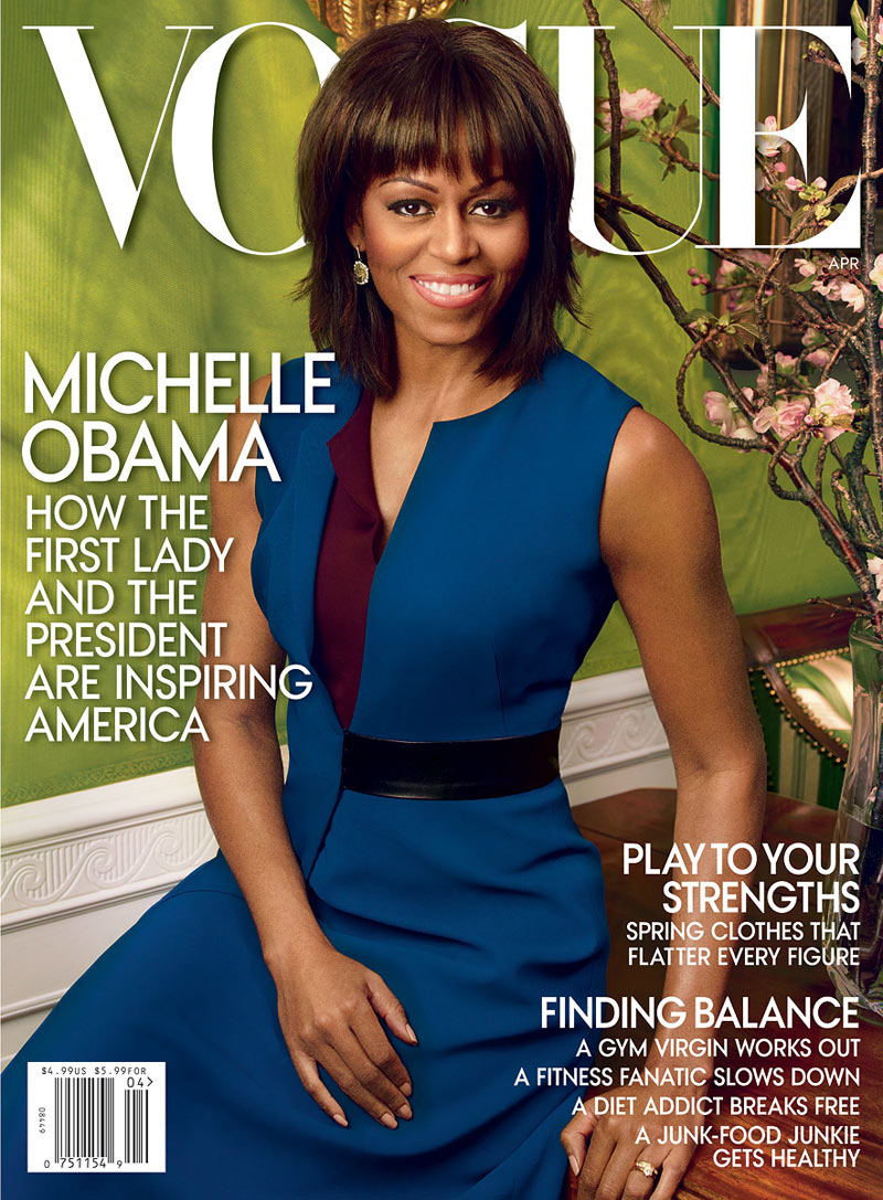 michelle obama cover 3 111901838333 Michelle Obama Graces the April 2013 Cover of Vogue US