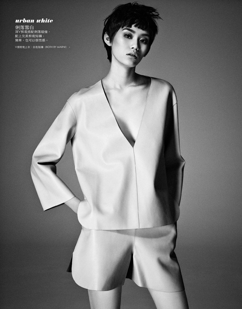 ming xi elle taiwan12 Ming Xi Stars in Elle Taiwans March 2013 Cover Story by Jason Kim