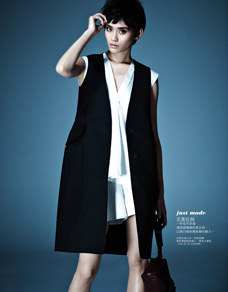 ming xi elle taiwan4 Ming Xi Stars in Elle Taiwans March 2013 Cover Story by Jason Kim
