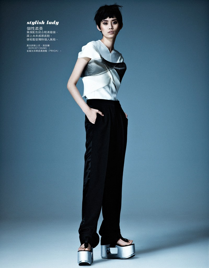 ming xi elle taiwan5 Ming Xi Stars in Elle Taiwans March 2013 Cover Story by Jason Kim