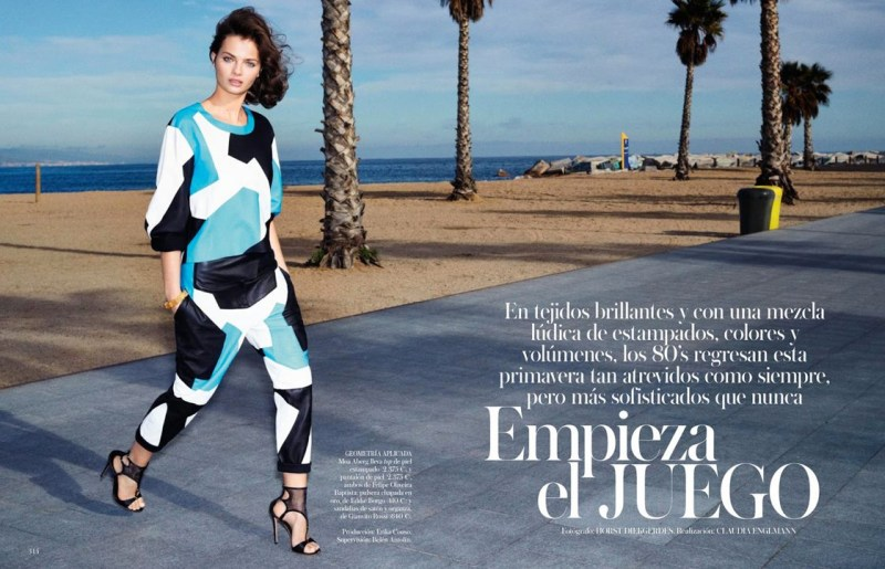 moa aberg vogue spain1 Moa Aberg is 80s Chic for Vogue Spain March 2013