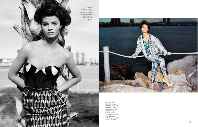 moa aberg vogue spain2 Moa Aberg is 80s Chic for Vogue Spain March 2013