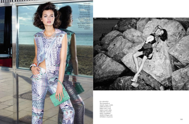 moa aberg vogue spain3 Moa Aberg is 80s Chic for Vogue Spain March 2013