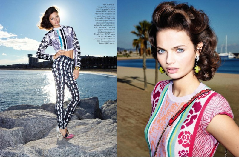 moa aberg vogue spain4 Moa Aberg is 80s Chic for Vogue Spain March 2013