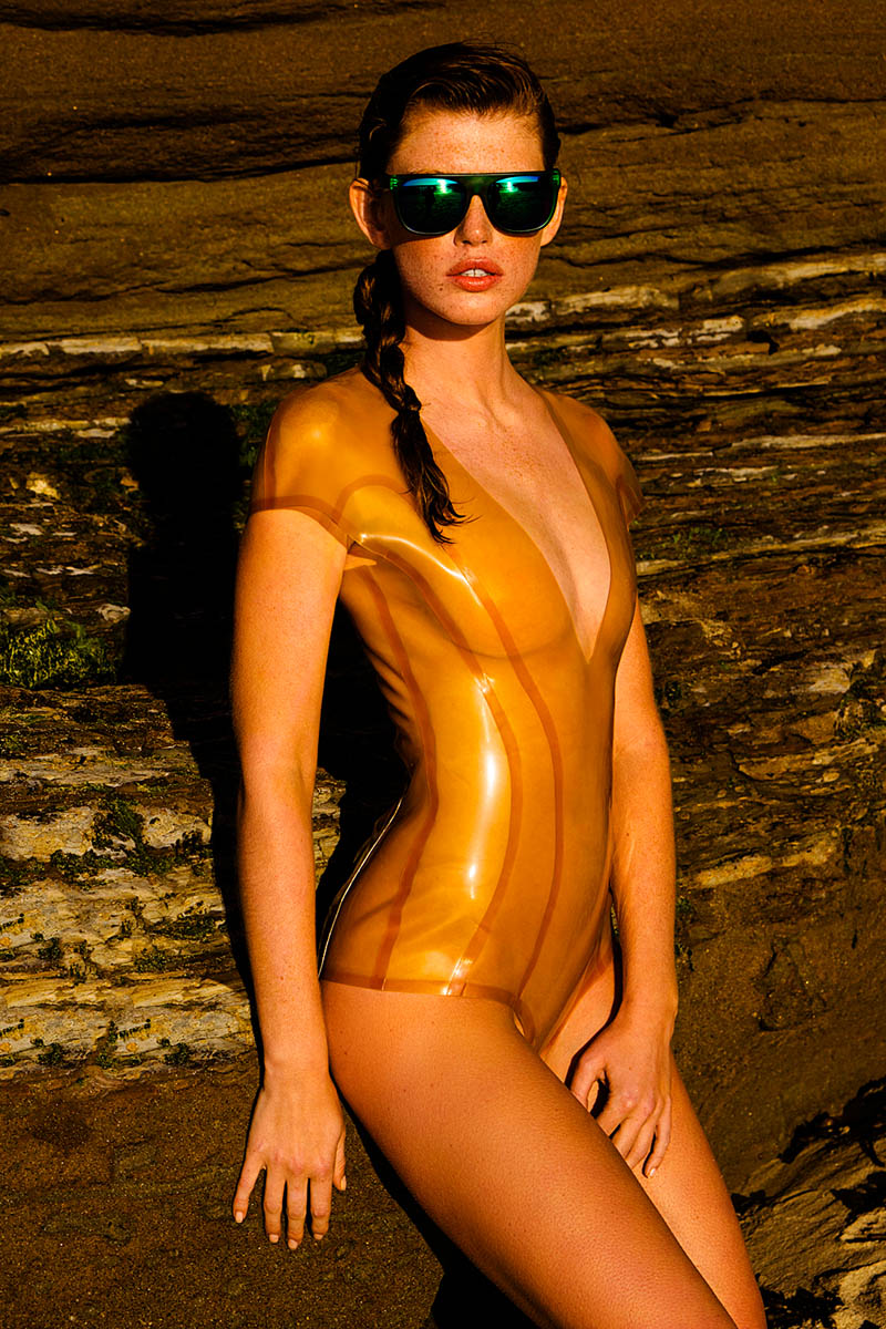 neon swim7 Kate Potter by Stewart Price in Neon Summer for Fashion Gone Rogue