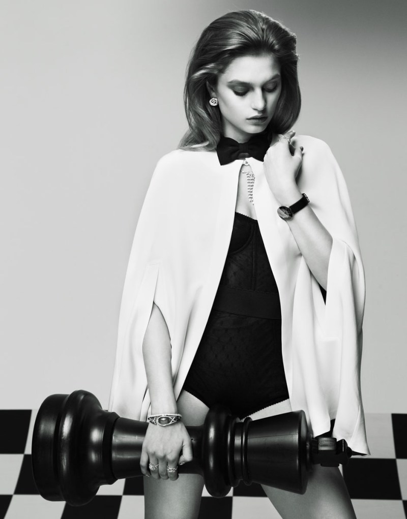 Svetlana Zakharova Has All the Right Moves for Nikolay Biryukov in Elle Russia April 2013