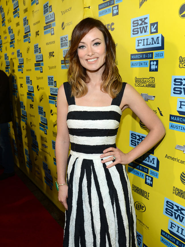 olivia wilde dg2 Olivia Wilde in Dolce & Gabbana at The Incredible Burt Wonderstone Premiere at SXSW