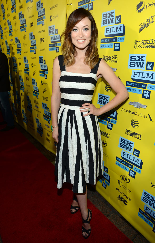 olivia wilde dg3 Olivia Wilde in Dolce & Gabbana at The Incredible Burt Wonderstone Premiere at SXSW