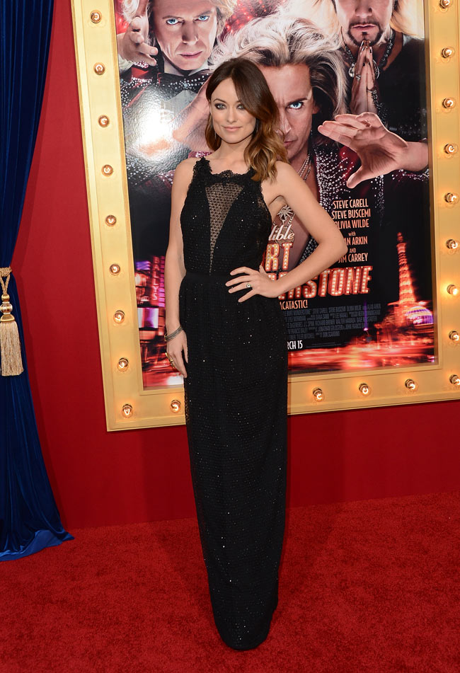 olivia wilde gucci1 Olivia Wilde in Gucci at The Incredible Burt Wonderstone LA Premiere