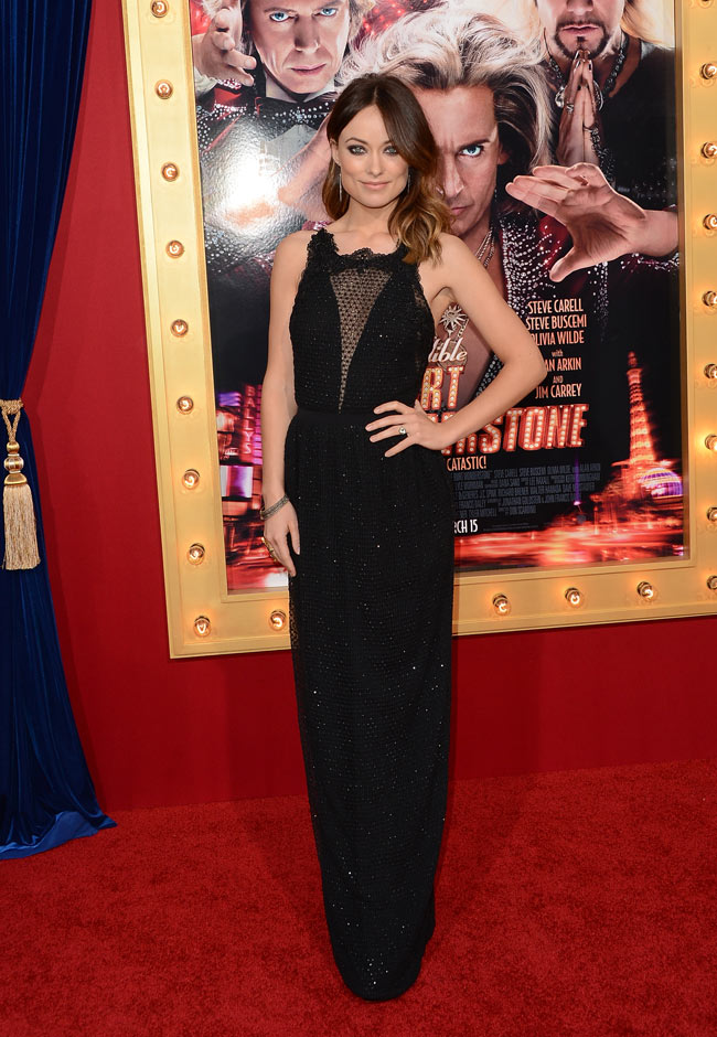 olivia wilde gucci2 Olivia Wilde in Gucci at The Incredible Burt Wonderstone LA Premiere