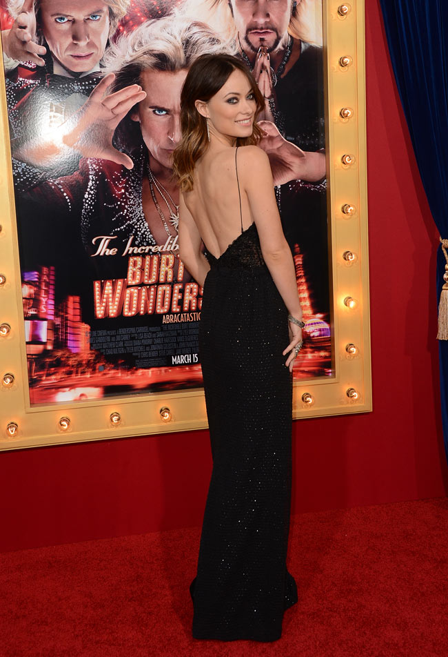 olivia wilde gucci3 Olivia Wilde in Gucci at The Incredible Burt Wonderstone LA Premiere