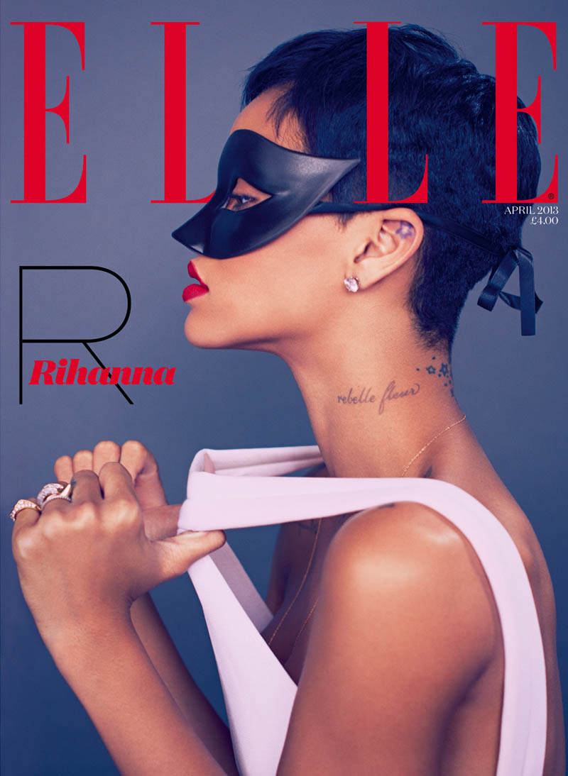 rihanna mariano vivanco elle1 Rihanna Stars in Elle UKs April Cover Shoot by Mariano Vivanco