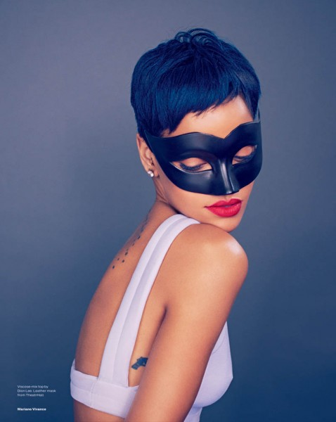 Rihanna Stars in Elle UK's April Cover Shoot by Mariano Vivanco