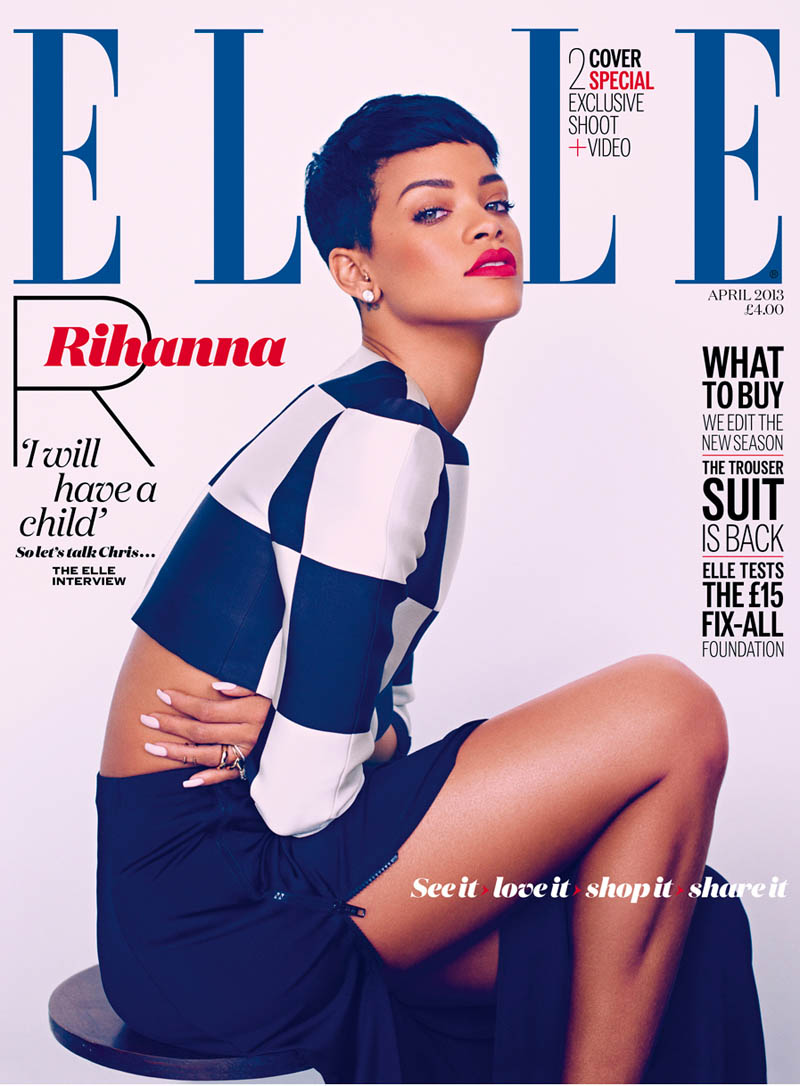 rihanna mariano vivanco elle2 Rihanna Stars in Elle UKs April Cover Shoot by Mariano Vivanco